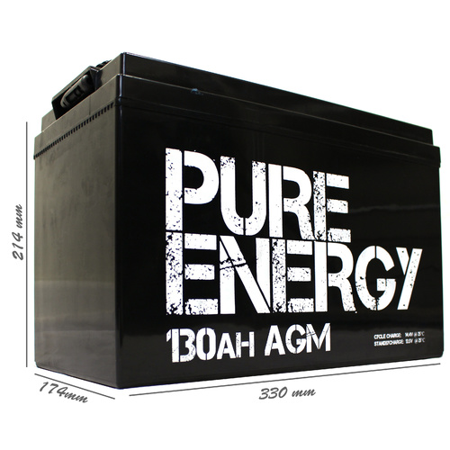 PURE ENERGY 130AH AGM
